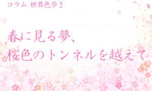 春に見る夢、桜色のトンネルを越えて